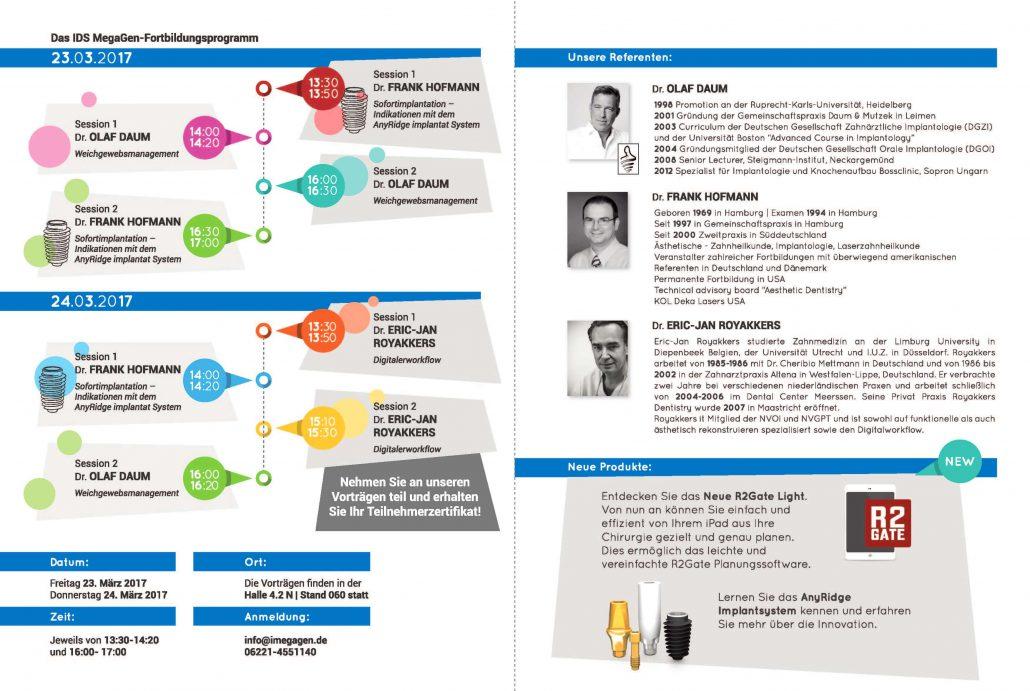 Megagen IDS Köln - Programm